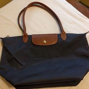 Longchamp le pliage navy shoulder bag